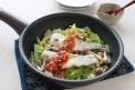 タラと白菜のフライパン蒸し梅ごまだれ(横)